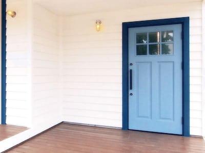玄関のドア窓に「モールガラス (12mm幅)」を使用した事例(愛知県豊田市 T様)