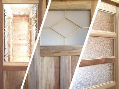 お部屋のアクセントに!デザインガラス3種を建具に使用した事例 (鹿児島県 T様)