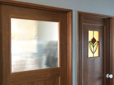 室内ドア窓に「エストラド」を使用した事例 (東京都 K様)