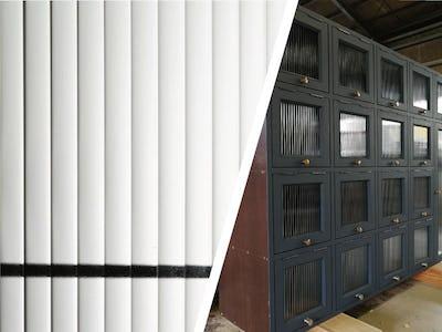 下駄箱の扉に「モールガラス」を使用した事例 (北海道 M様)
