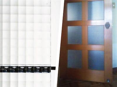 リビングのドアの割れ替えに「チェッカーガラス」を使用した事例 (福岡県 K様)