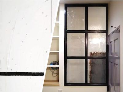 シンプルモダンな室内窓に「アルトドイッチェK」を使用した事例 (大阪府 T様)