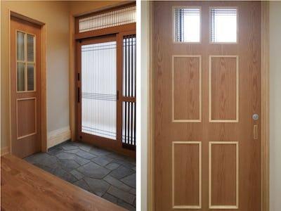 お家の雰囲気にもぴったり馴染む!チェッカーガラスを住宅のドア窓に使用した事例 (群馬県 S様)