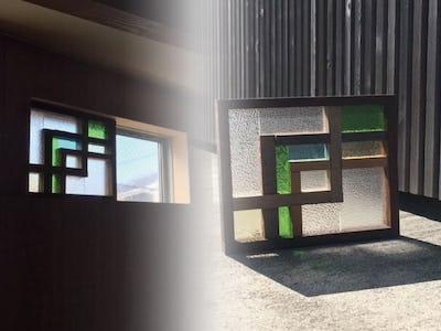 ステンドグラスのような美しさ!ガラス端材を使用して装飾窓を製作された事例 (神奈川県 C様)
