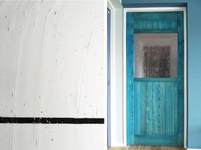 鮮やかな色合いで爽やかに!ドア窓に「アルトドイッチェK」を使用した事例(沖縄県T様)