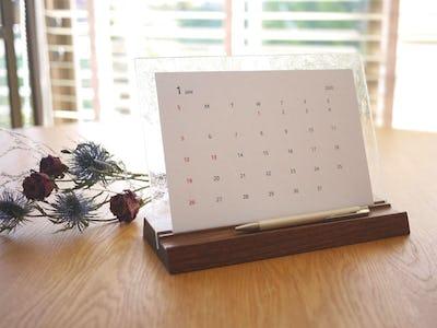 オシャレなガラス雑貨に!卓上カレンダーにデザインガラスを使用した事例(静岡県K様)