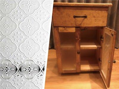 上品な雰囲気に!家具の扉に「フローラガラス」を使用した事例(宮崎県Y様)