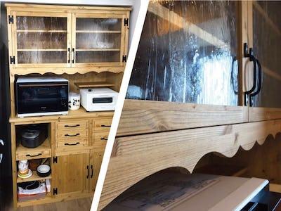 木材との相性抜群!カントリー調の食器棚に「アルトドイッチェK」を使用した事例(大阪府S様)