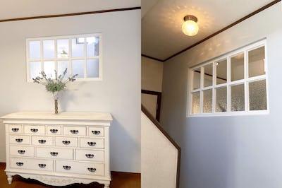 廊下とリビングを繋ぐ室内窓!「モニュメンタルS」を使用した事例 (熊本県熊本市 J社様)