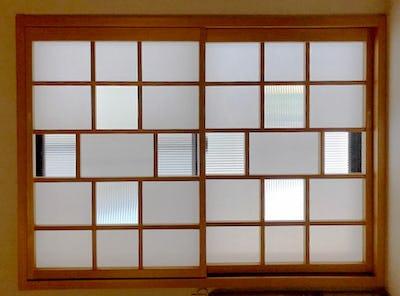 和室の障子をガラスで張り替え!「モールガラス(12mm幅)」を使用した事例 (高知県高知市 N様)
