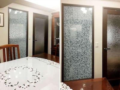 室内窓に飛散防止効果もある「デザインフィルムガラス」を設置した事例(東京都杉並区 B様)