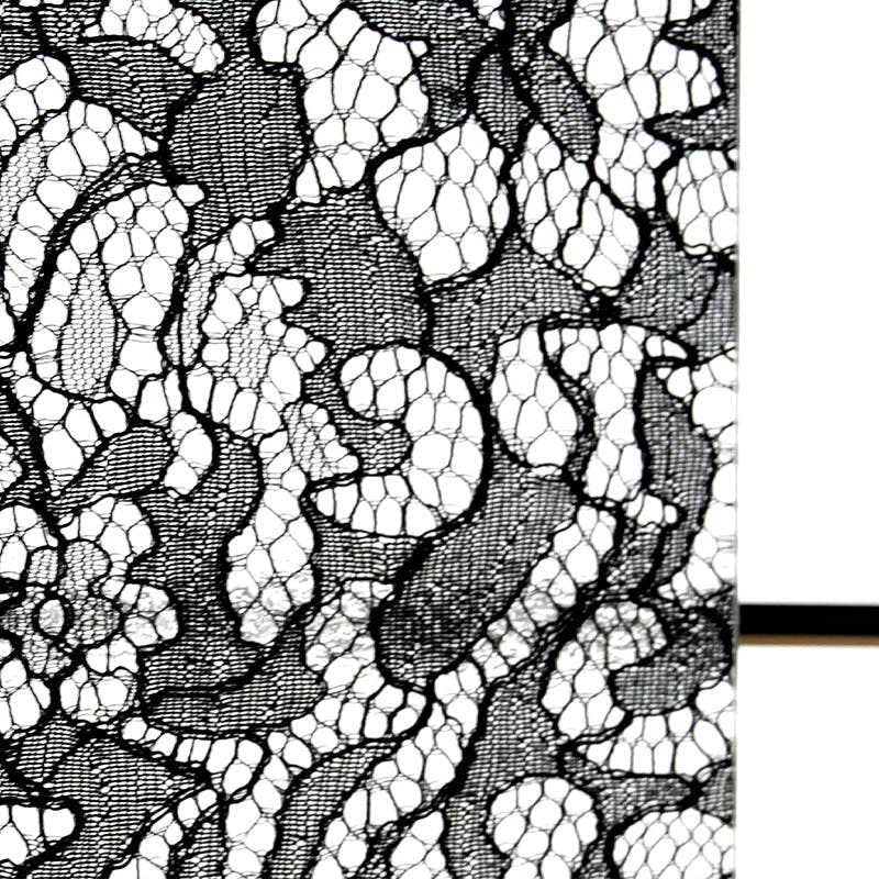 LFG-032 レースガラス エスニック花柄 ブラック