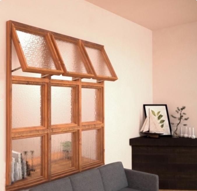 格子状の室内窓
