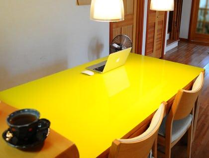 塗装カラーガラス「彩」-テーブル