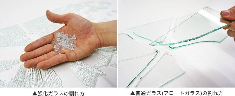 強化ガラスと普通ガラスの違い