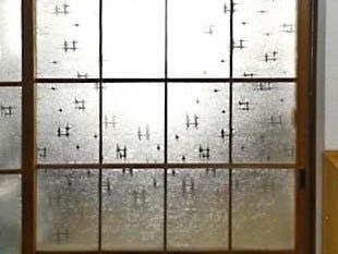 昭和型板ガラス「いろり」