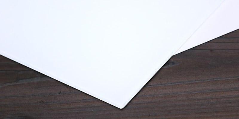 塗装カラーガラス「彩」(純白) イメージ画像